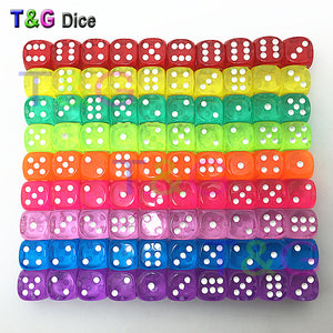 10 pc transparent dice