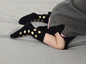 Gold dots socks