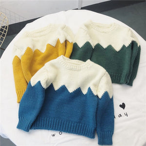 Zig zag colorblock sweater