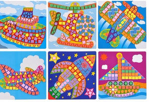 6  pc mosaic art stickers