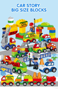 105 pc traffic building blocks