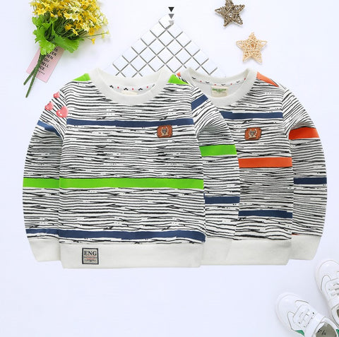 Scribble stripe sweatshirt
