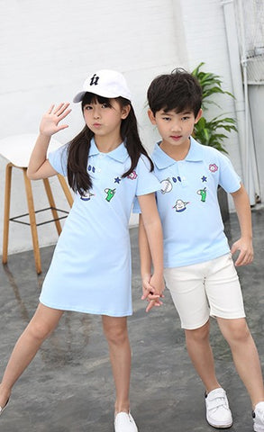 Patch polo dress