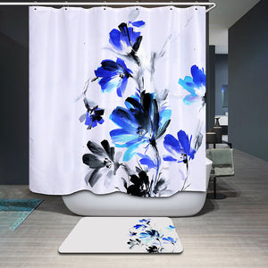 Floral shower curtain