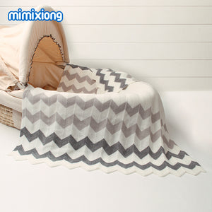 Chevron knit blanket