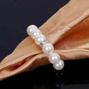 Pearl napkin rings 10 pcs