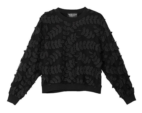 Embroidered leaves sweater
