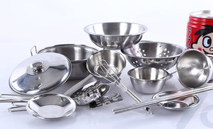 16 pc stainless steel cooking set