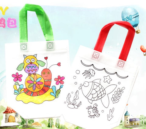 Coloring tote bag