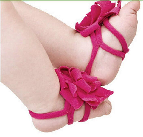 Cotton flower sandals