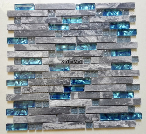 Mosaic backsplash tiles