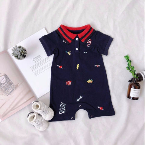 Patch polo romper