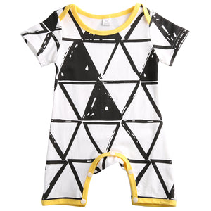 Abstract triangle romper
