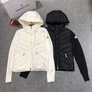 MC Puffer jacket with knit sleeves