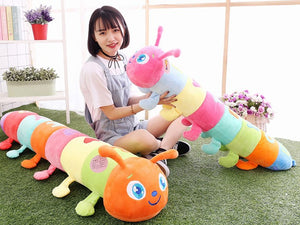 Oversized plush caterpillar
