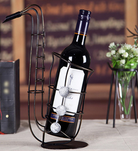 Saxophone wine rack