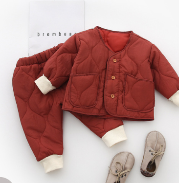 Quilted jacket set