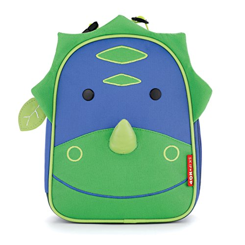 Skip Hop Baby Zoo Little Kid and Toddler Insulated and Water-Resistant Lunch Bag, Multi Dakota Dinosaur