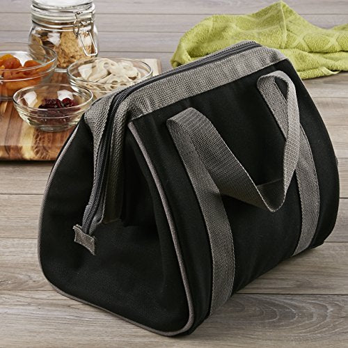 Fit & Fresh Men's Big Phil Insulated Lunch Bag with Ice Pack, Black