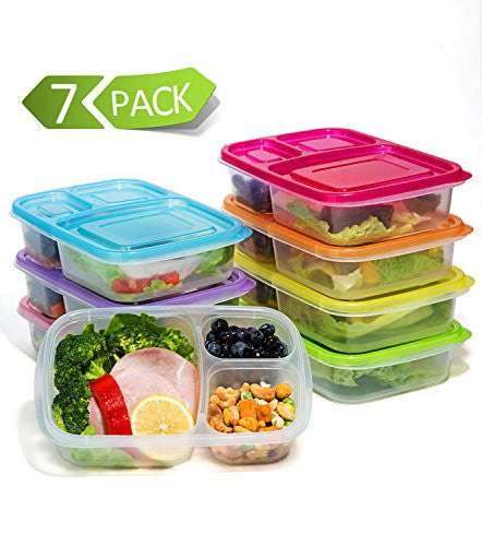 Meal Prep Containers 3-Compartment Lunch Boxes Food Storage Containers with LidsBPA Free ...  sc 1 st  My Lunch Bag Lady & Meal Prep Containers 3-Compartment Lunch Boxes Food Storage ... Aboutintivar.Com