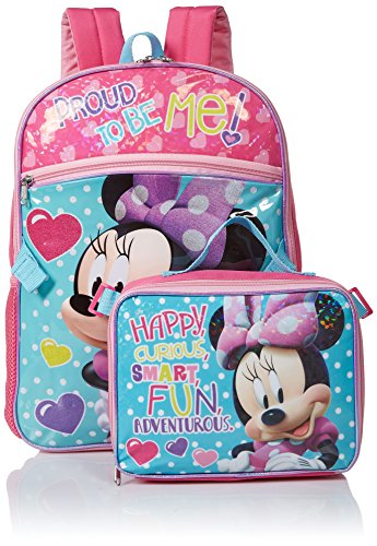 Disney Girls' Minnie Backpack with Lunch, Blue