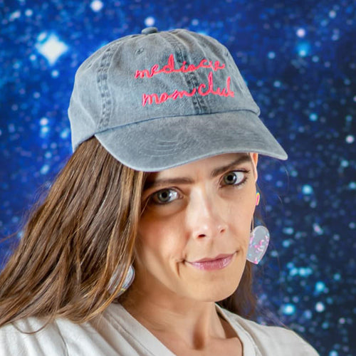 Mediocre Mom Club Adjustable CHARCOAL Garment Dyed Hat