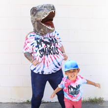 Mamasaurus AMERICANA Red White Blue Tie Dye Unisex Mom