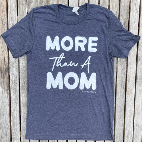 More Than A Mom Heather Navy Sparkle Ink Tee
