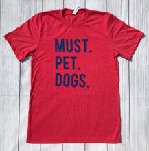 Must Pet Dogs Unisex ADULT Red and Blue Tee