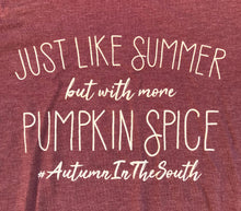 Just Like Summer But With More Pumpkin Spice UNISEX Womens Fall Autum in the South Tee Holiday