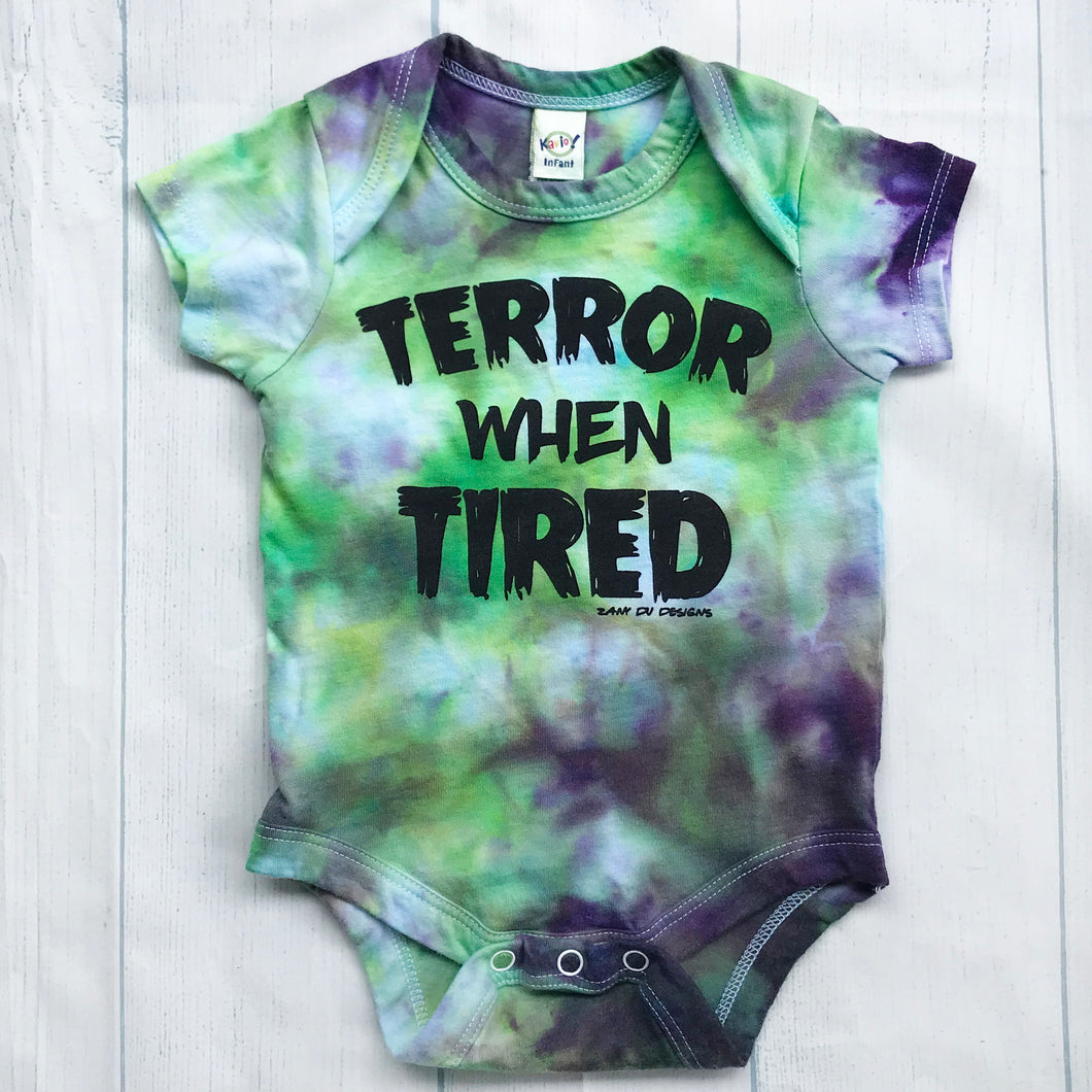 Terror When Tired Halloween Tie Dye INFANT Bodysuit
