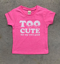 Too Cute Donut Pink Blue INFANT Tee