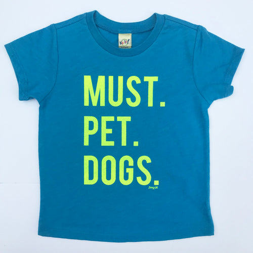 Must Pet Dogs Heather Turqouise INFANT Yellow Neon SSS