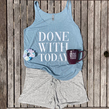 Done With Today Stonewash Denim Split Hem Tank Women New