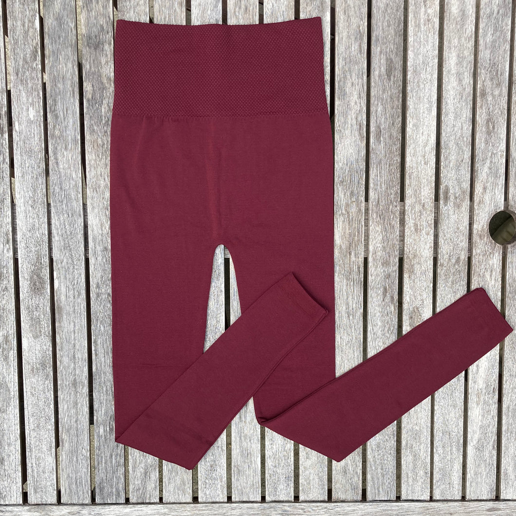 Burgundy Leggings Women New