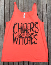 Cheers Witches Halloween Heather Womens FLOWY Coral Tank Top Holiday