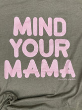 Mind Your Mama Metallic Rose Gold on OLIVE Green Tee New