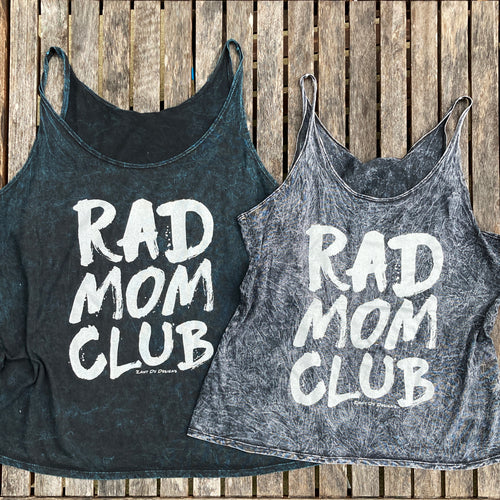 Rad Mom Acid Wash Flowy Tank