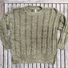 Olive Green Chenille Cable Knit Sweater