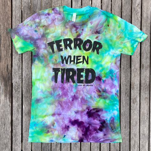 Terror When Tired Halloween Tie Dye ADULT Tee