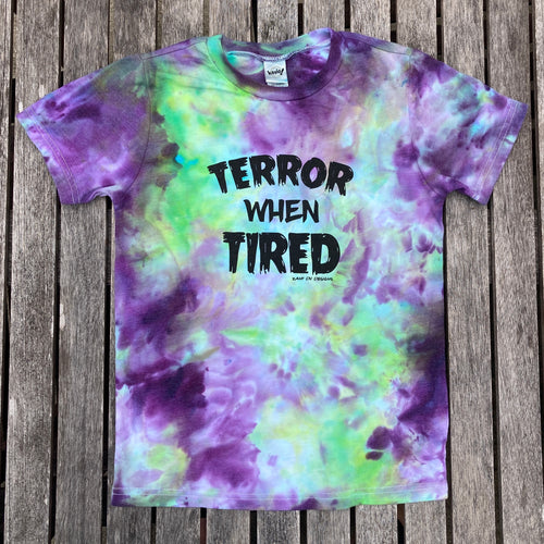 Terror When Tired Halloween Tie Dye YOUTH Tee