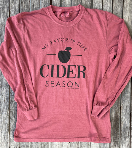Cider Season Long Sleeve Unisex Brick Red Tee