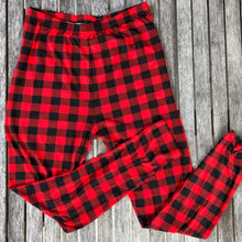 Red and Black Buffalo Plaid Leggings New