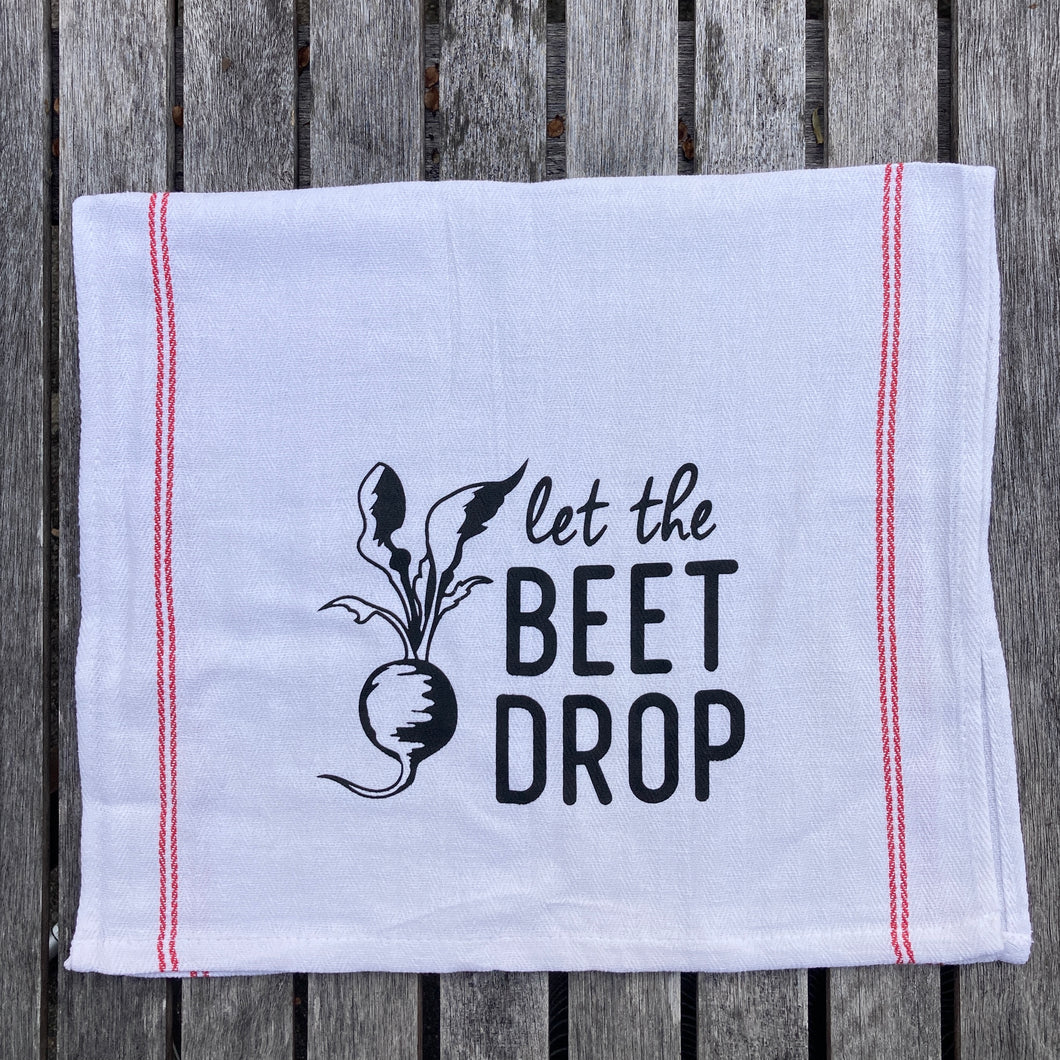 Let the Beet Drop Kitchen Towel New