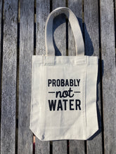 Probably Not Water Double Bottle Canvas Tote New