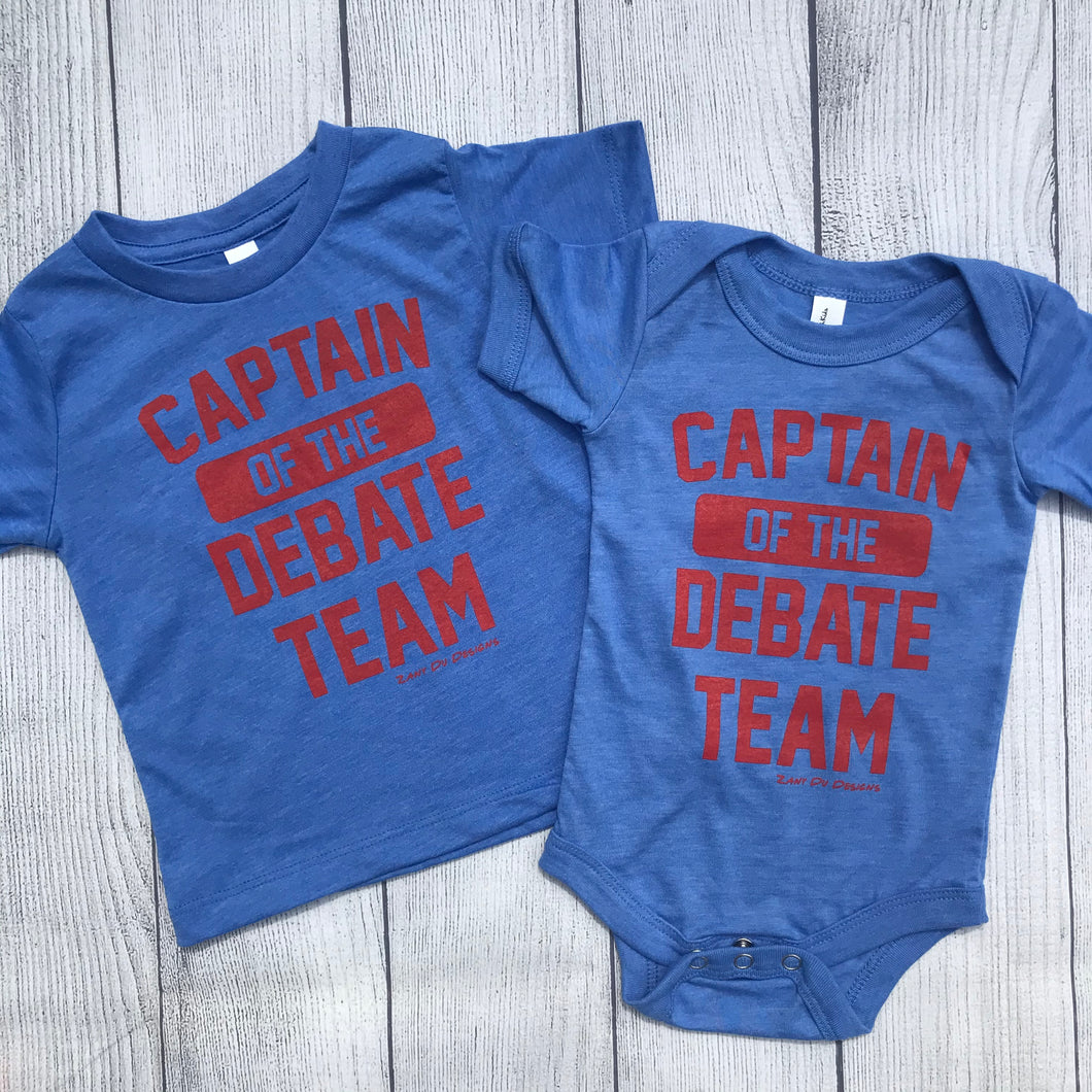 Captain of the Debate Team INFANT Bodysuits Tee Patriotic USA