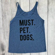 Must Pet Dogs Bella Canvas Women's Triblend Light Blue Tank Dog Lover Must Love Dogs SSS