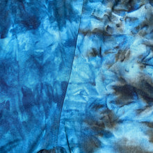 Blue Tie Dye Biker SHORTS Leggings New