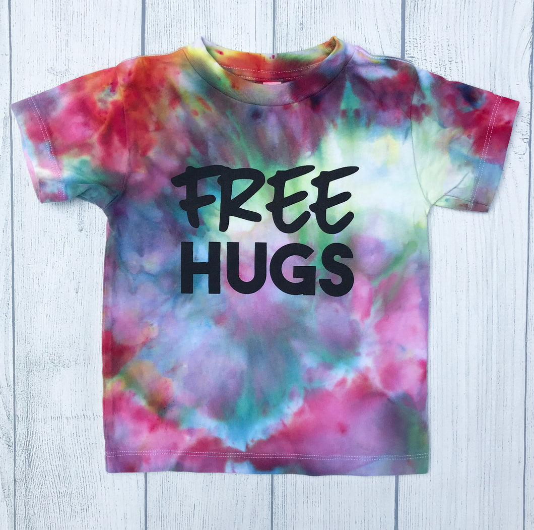 Free Hugs Tie Dye TODDLER Tee