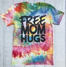 Free MOM Hugs Tie Dye Tee Mom